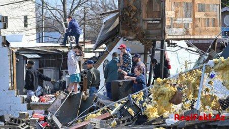 ABŞ-da tornado qurbanlarının sayı 25-ə çatdı